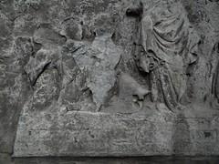 ca. 1400-1410 - 'unknown knight and family', Église Saint-Quentin, Tournai, province of Hainaut, Belgium (roelipilami (Roel Renmans)) Tags: 1400 1405 1410 unknown knight ritter ridder chevalier caballero family famille wife lady eglise st saint quentin church monument wall mounted memorial dalle funeraire grafmonument grabmal bascinet visor camail aventail hounskull passereau bec hundsgugel kerk tournai doornik hainaut hainault belgium helmet helm heaume beckenhaube basinet бацинет bacinetto bacinete fashion houppelande houppeland visiere