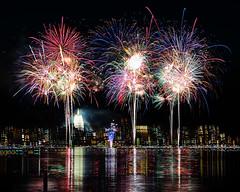 Fireworks over Lake Monona (AChucksEyeView) Tags: fireworks lake water monona shake stack reflection color colour night