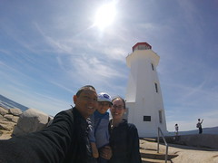 Family Selfie at Peggy's Cove (brownpau) Tags: gopro goprosession goprohero4session canada novascotia halifax peggyscove family brownpau amykow pauloandamyandezra lighthouse ezraordo ezra