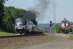 Phase III (Eric_Freas) Tags: norfolk southern pittsburgh line ns amtrak pennsylvanian 42 04t phase iii heritage unit 145 amtk lewistown pennsylvania pa junction cp lewis