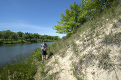 The Trail at the Foot of the Dune (Tom Gill.) Tags: hiking indiana dunes lake savanna indianadunesnationalpark millerwoods