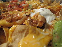 Chicken Grande Nachos. (dccradio) Tags: lumberton nc northcarolina robesoncounty indoor indoors food eat takeout mexicanfood fastfood guacamole sourcream beans refriedbeans cheese meltedcheese chicken canon powershot elph 520hs chips nachos grandenachos nachosbox monday july summer summertime mondayevening evening goodevening photooftheday photo365 project365 tacobell meal lunch supper dinner