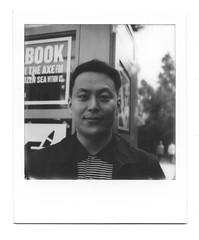 "Kyuha ""Q"" Shim (scottboms) Tags: analogresearchlab printmaking dir arl designerinresidence polaroid polaroidoriginals film instantfilm california facebook menlopark portrait"