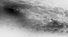 Galaxy M98, variant (sjrankin) Tags: messier98 edited 2july2019 nasa hst hubblespacetelescope esa europeanspaceagency galaxy stars nebula grayscale m98