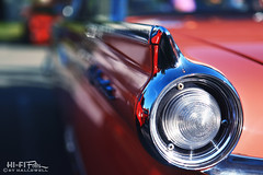 Not the Mikly Way (Hi-Fi Fotos) Tags: 1959 50s ford galaxie townsedan fairlane 500 geranium salmon v8 chrome tail fin light detail bokeh american vintage style classiccar nikkor 1755 28 nikon d7200 dx hififotos hallewell