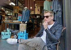 DSC04453 (d_housewright) Tags: kirkland man sit ponder sunglasses hand