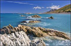 Ward Beach (katepedley) Tags: ward beach coast coastline marlborough south island southisland newzealand new zealand aotearoa nz canon 5d 1740mm polariser rock geology uplift waves amuri limestone mead formation sedimentary