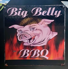 Big Belly BBQ (rabidscottsman) Tags: food sign pig blueeyes pork smoker smokingmeat smilingpig scotthendersonphotography fire painted flames iphone iphoneography geotagged ios iphone8 appleiphone minnesota weekend saturday mn cannonfallsminnesota goodhuecountyminnesota bbq meat bigbelly exploreminnesota