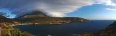 Limeni from across the bay (acritely) Tags: greece panorama limeni laconia mani peloponnese hugin darktable summer cloud coast bay