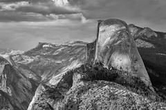Granite Gray (Kirk Lougheed) Tags: california halfdome sierranevada sierras tenayacanyon usa unitedstates washburnpoint yosemite yosemitenationalpark bw blackandwhite landscape monochrome nationalpark outdoor park spring