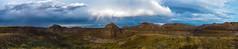 Rainbow over the Badlands Panorama (Christy Turner Photography) Tags: canada alberta hoodoos badlands dinosaurprovincialpark unesco beauty nature panorama pano storm rainbow rainbows