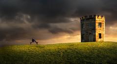 Castles In The Air (Emerald Imaging Photography) Tags: landscape laperouse botany sydney maroubra littlebay bareisland macquarietower tower laperousetower newsouthwales nsw australia australian australianlandscape clouds sunrise sunset storm light sunlight