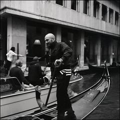 Gondolier, Venice (Koprek) Tags: venice italy ilfordhp5 1600 gondolier rolleiflex28f streetphotography stphotographia street stphotography may 2019
