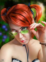 Redhead (vovanbelloff) Tags: photoshop photomanipulation photoart girl redhead glasses summer фотошоп фотоманипуляции фотоарт девушка рыжая вочках лето