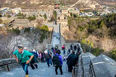 Steep ascent (Tony Shertila) Tags: cruise monument japan asia ship beijing tourist greatwall excursion worldheritage worldcruise nikon5300 201903171647060 architecture structure ming