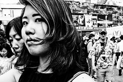 Close Up Shibuya (Victor Borst) Tags: street streetphotography streetlife reallife real realpeople shibuyacrossing tokyo town city ci cityscape citylife travel travelling trip traveling urban portrait girl lady woman sexy hot mono monotone monochrome closeup close japan japanese fuji fujifilm xpro2 expression expressions happyplanet asiafavorites