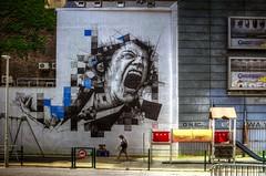 Un autre chemin est possible (Jean-Marie Lison) Tags: x100t bruxelles plainedejeu clôture streetart hdr