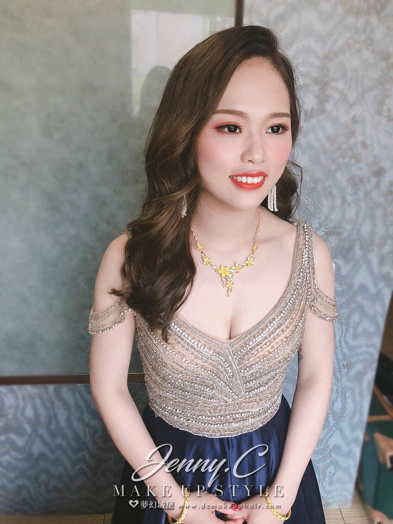 【新秘蓁妮】bride婷貓 訂結婚造型 / 南投雙喜婚宴會館