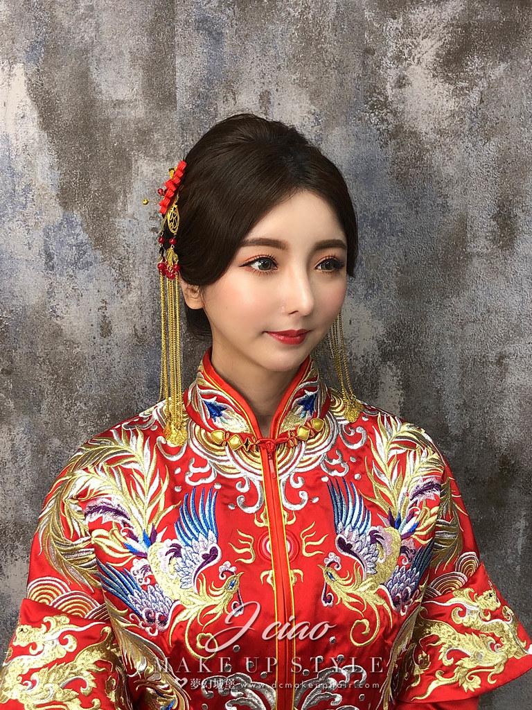 【新秘婕喬】新娘造型創作 / 龍鳳掛造型