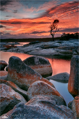 Fire Skies (Maciek Gornisiewicz) Tags: binalong bay bayoffires tasmania australia landscape seascape morning dawn sunrise rocks clouds lichen travel outdoors shore coast red reflections canon nisi 1635mm 5div maciek gornisiewicz darkelf photography 2018 fireskies