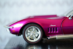 little pink corvette (photos4dreams) Tags: macro macrolens makro corvette model 118 wheel wheels photos4dreams p4d photos4dreamz pink 69corvette diecast mattel stingray chevrolet