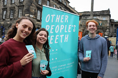 Sell 362 Other People's Teeth (Terry Moran aka Tezzer57) Tags: otherpeoplsteeth redhair guy promote girl street promotion girls edinburgh scotland uk makeup theroyalmile fringe summer2018 edinburghfringe