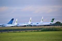 Kemble Lineup (Gerry Rudman) Tags: boeing 737 mdc 717 germania turkmenistan kemble cotswold