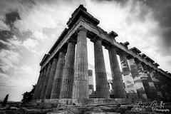 The Parthenon (corineouellet) Tags: composition details greece grèce history canonphoto acropolis acropole athens travel exposure contrast blackandwhite noiretblanc bnw