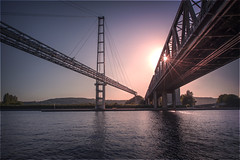 deja vu (BasHandels) Tags: bridge architecture line water muse river sunset liege luik maastricht belgium