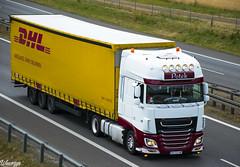 DAF XF106 SSC   Potek (PL) (Wawrzyn) Tags: daf hollandstyle holland dhl transport truck trucks truckspotting trailer potek lowdeck passion photography poland nikon d3300 18105