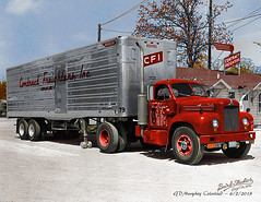 Mack B Contract Freighters Colorized (gdmey) Tags: mack mackb macktruck colorized fallenflag trucking transportation