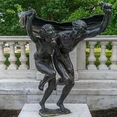 Away Together (BenBuildsLego) Tags: cleveland art museum bronze sculpture statue escultura skulptur sony a6000 beautiful bacchus nymph myth mythology goddess garden nude greek roman figurative