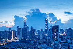 Blue skyling (kevinho86) Tags: canton eos5diii canon colour city cityscapes citylights citynights guangzhou blue skyline pearlrivernewtown cloudy sky 天空 雲 skyscraper urban 空 城市 landscape scenery scape sunset downtown magichour ontheroof 珠江新城 内透 建築 twilight art 天際線 lightshadow architecture 都會 highview 50mm