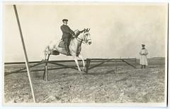 . (Kaïopai°) Tags: vintage pferd horse rider reiter soldat soldier uniform army springreiten sprung jump hürde überwinden überwindung schimmel sprungreiten zaun fence