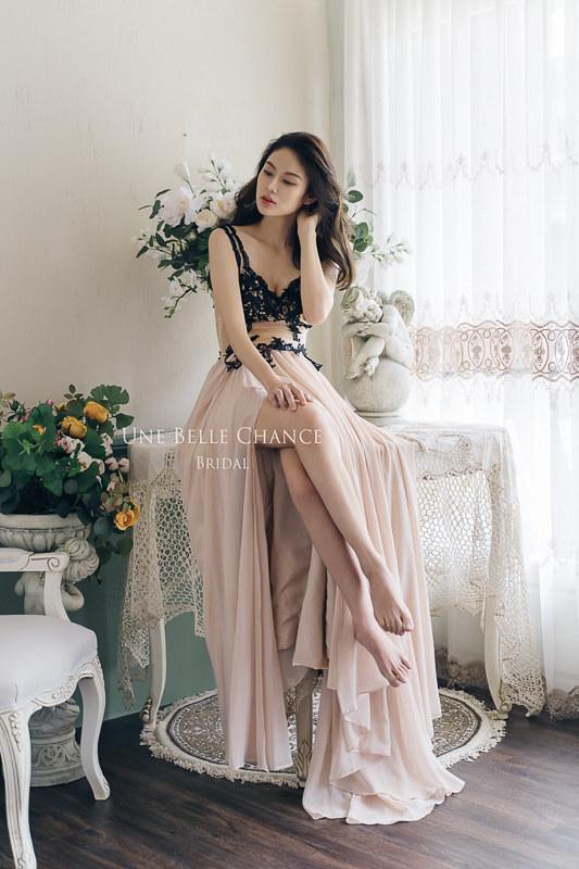 48179956126_0223bc71fa_c B-606法式黑蕾絲裸膚雪紡晚禮服