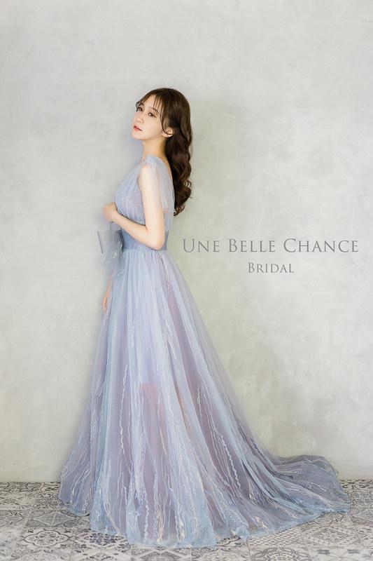 B-605藍紫翅膀晚禮服