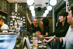 Charming bar (Jon Siegel) Tags: nikon d810 35mm 14 nikkor35mmf14 nikkor35mmf14ais people boys girls men women japanese bar restaurant secret fun japan tokyo