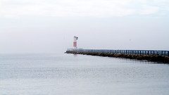 Into the Mist (Lester Public Library) Tags: tworiverswisconsin tworivers tworiversharbor harbor water beacon lakemichigan lake summer mist lesterpubliclibrarytworiverswisconsin readdiscoverconnectenrich wisconsin