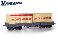Sgs com contentores Valouro (Grupo Avaliare Engenharia) Tags: sudexpress sgs h0 187 valouro modelismo ferrovário cp portugal