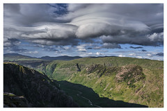 Lenticular Clouds over Langstrath Beck, The Lake District (dandraw) Tags: thelakedistrict thelakes landscape lakedistrict cumbria lenticular lenticularclouds langstrathbeck adventure outdoors sunlight clouds drama dramatic atmospheric mountains shadows fuji fujifilm xt3