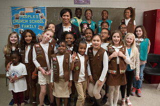 April 06, 2019 MMB Met with Local Girl Scouts Brownie Troop 1257 to Discuss Leadership and Career Paths