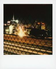 101 & Vine 2 (tobysx70) Tags: color film polaroid sx70 vine originals 101 instant sonar sx70sonar california ca street city toby motion blur records building sign night fence point real photography lights la los neon cityscape nocturnal traffic camino angeles el chain capitol hollywood freeway link lighttrails hancock vanishing knickerbocker