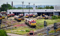 Toton Nottinghamshire 2nd July 2019 (loose_grip_99) Tags: toton nottinghamshire eastmidlands england uk nottingham railway railroad rail midland shed depot mpd transportation ews db schenker freight trains railways class 60 class66 diesel july 2019 60079 66187 66101 tmd traction maintenance