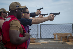 190627-N-MW694-0455 (U.S. Pacific Fleet) Tags: usswilliamplawrence deployment usnavy indopacific 9mm livefire qualification philippinesea