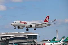 Swiss HB-JCM DUB 06/06/19 (ethana23) Tags: planes planespotting aviation avgeek aeroplane aircraft airplane airbus a220 a220300 cs300 cseries bombardier swiss