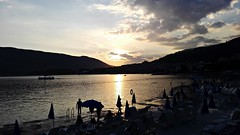 Summer, evening, sea (marijanaivljanin993) Tags: sun sundown sunset evening veče sky cloud clouds hills hill dark brdo people beach sea water adriatic hercegnovi montenegro crnagora creative camera photo photography huawei