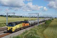 70802 02-07-19 (IanL2) Tags: colas colasrailfreight class70 70802 harrowdenjct wellingborough northamptonshire railways trains ge cement