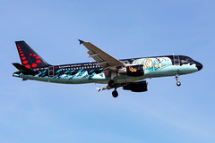 OO-SNB, Airbus A320-214 of Brussels Airlines. (TinTin) (David James Clelford Photography) Tags: oosnb airbusa320214 brusselsairlines brusselsnationalairport ebbr bru aircraft airplane airliner airbus aeroplane jet jetliner aviation civilaviation skyshot