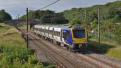 Class 195 in Passsenger Service (garstangpost.t21) Tags: northern class195 woodacre 1u99 1645 barrowinfurness dmu dieselmultipleunit lancashire manchesterairport 195116