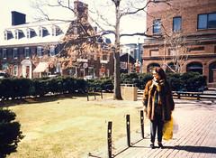 Chiara at Harvard, 1988 (Robert Barone) Tags: 1988 boston chiara kodacolor wife italians italiani snapshot cambridge massachusetts harvard